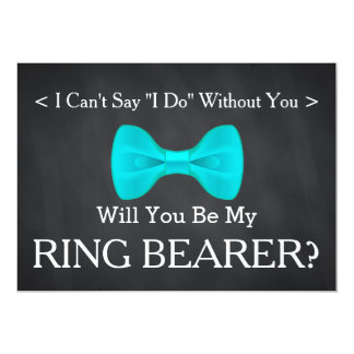 Chalkboard Will You Be my Ring Bearer Card