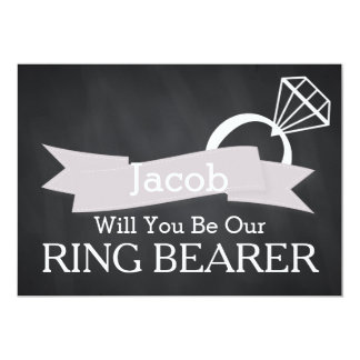 Chalkboard Will You Be Our Ring Bearer 13 Cm X 18 Cm Invitation Card