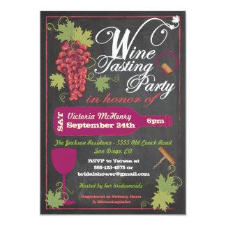 Chalkboard Wine Tasting Party Invitations