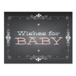 Chalkboard Wishes for Baby Shower Activity Card Post Cards