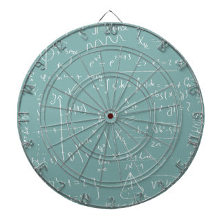 Chalkboard With Mathematical Symbols Dartboard