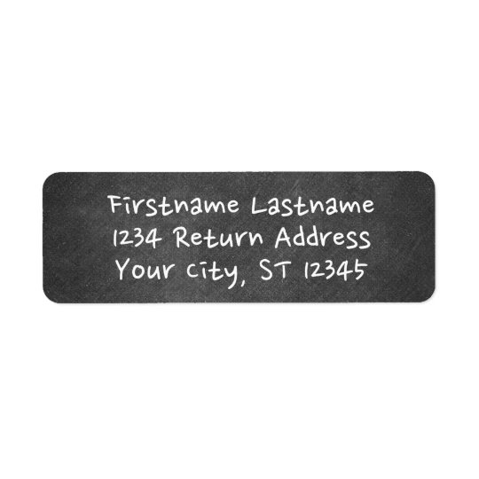 Chalkboard with Whimsical Type Return Address Label