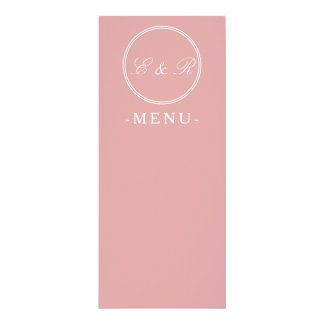 Chalky Pastel Pink Wedding Decoration Card