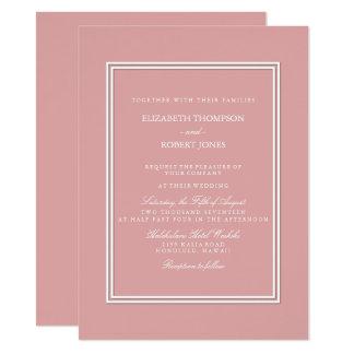 Chalky Pastel Pink Wedding Invitation Set