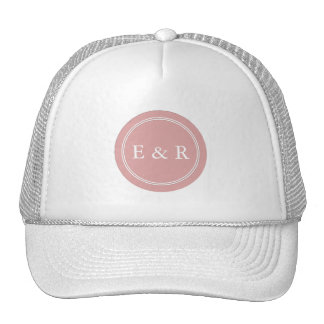 Chalky Pastel Pink Wedding Party Set Cap