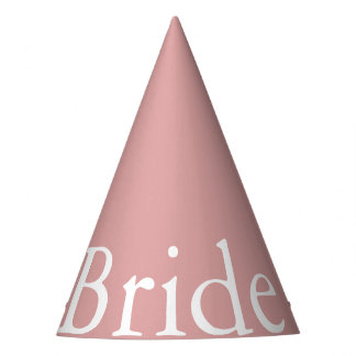Chalky Pastel Pink Wedding Party Set Party Hat