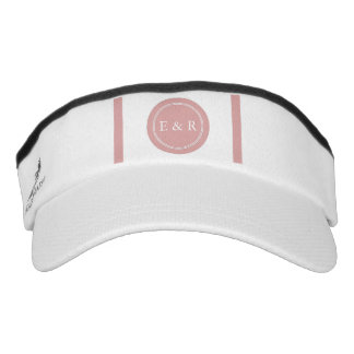 Chalky Pastel Pink Wedding Party Set Visor