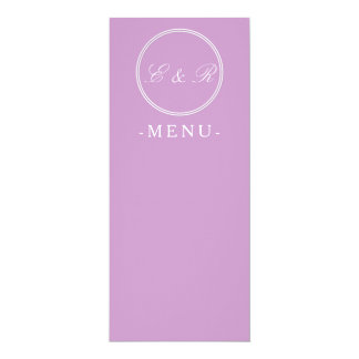 Chalky Pastel Violet Wedding Decoration Set 10 Cm X 24 Cm Invitation Card