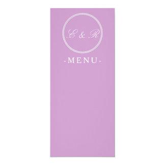 Chalky Pastel Violet Wedding Decoration Set Card