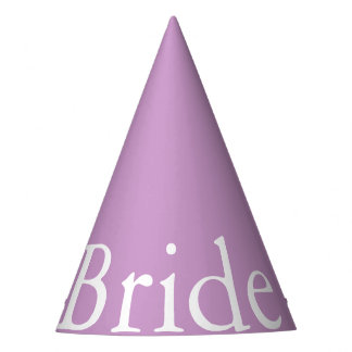 Chalky Pastel Violet Wedding Decoration Set Party Hat