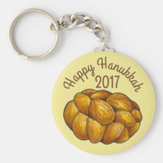 Challah Bread Happy Hanukkah Chanukah Holiday Key Ring