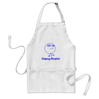 Challenge Accepted Blue & White Text Standard Apron