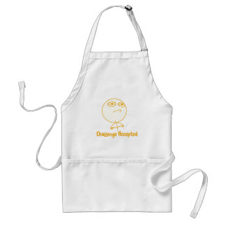Challenge Accepted (In Orange!) Standard Apron