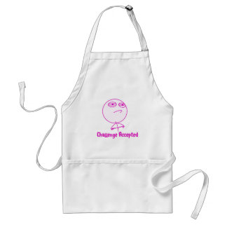 Challenge Accepted Pink & White Text Standard Apron