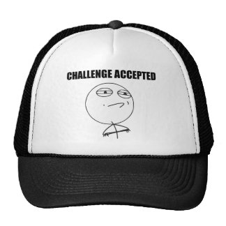 Challenge Accepted Rage Face Comic Meme Hats