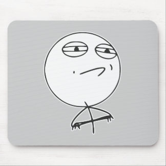 Challenge Accepted Rage Face Comic Meme Mousepads