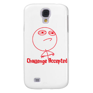 Challenge Accepted Red & White Text Galaxy S4 Case