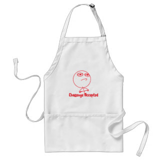 Challenge Accepted Red & White Text Standard Apron