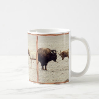 Challenge--Buffalo vs Elk Basic White Mug