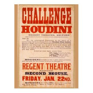 Challenge Houdini Postcard