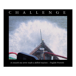 CHALLENGE - Motivational BOAT Poster w Quote