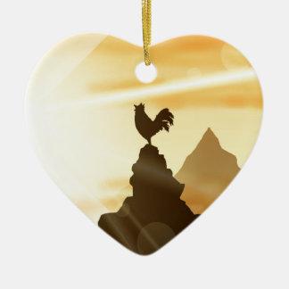 Challenge the Sun Ceramic Heart Decoration
