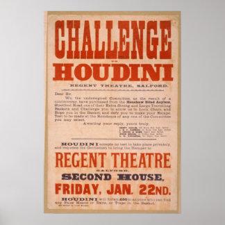 Challenge to Houdini - Vintage Poster