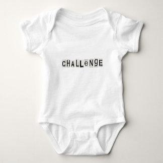 Challenge word concept. baby bodysuit