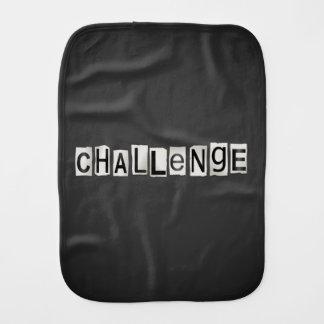 Challenge word concept. burp cloth