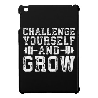 Challenge Yourself and Grow - Inspirational Cover For The iPad Mini