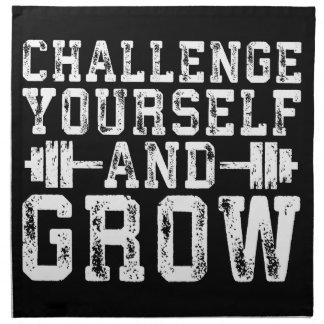 Challenge Yourself and Grow - Inspirational Napkin