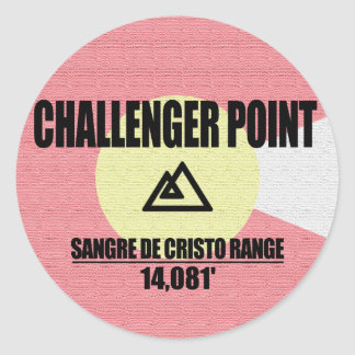Challenger Point Round Sticker