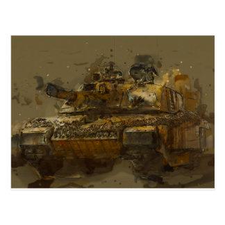 Challenger Tank Postcard