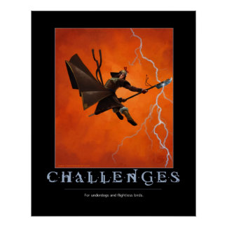 Challenges Motivational Poster