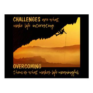 """CHALLENGES"" postcard"