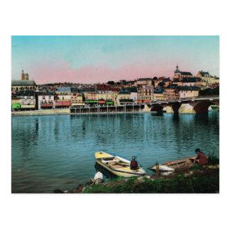 Chalons sur Saone, waterfront Postcard