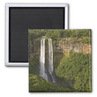 Chamarel Waterfall-highest on Mauritius, over Square Magnet