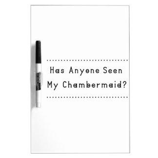Chambermaid Dry Erase White Board