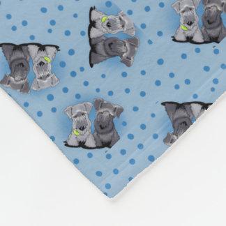 Chambrray Cesky Terriers Fleece Blanket