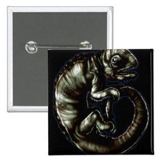 Chameleon1b 15 Cm Square Badge