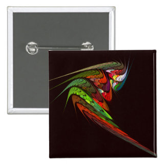 Chameleon Abstract Art Button (square)
