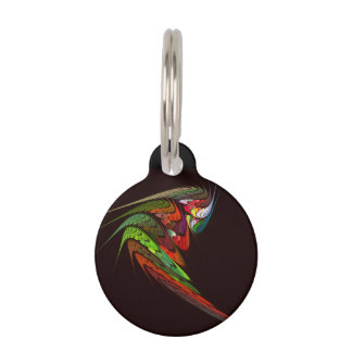Chameleon Abstract Art Round Pet Tag