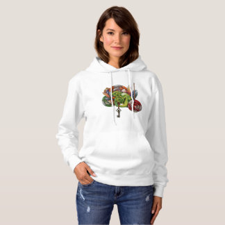 chameleon and crystals hoodie