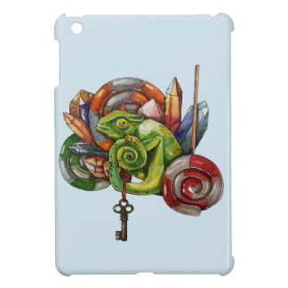 chameleon and crystals iPad mini cover