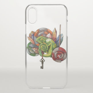 chameleon and crystals iPhone x case