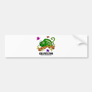 Chameleon by Lorenzo © 2018 Lorenzo Traverso Bumper Sticker