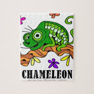 Chameleon by Lorenzo © 2018 Lorenzo Traverso Jigsaw Puzzle