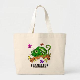 Chameleon by Lorenzo © 2018 Lorenzo Traverso Large Tote Bag