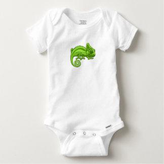 Chameleon Cartoon Character Baby Onesie