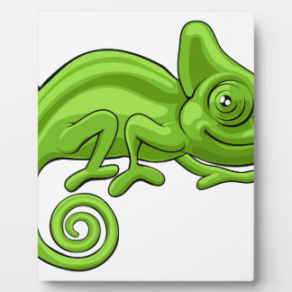 Chameleon Cartoon Character Display Plaque